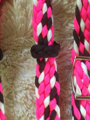 Knotted barrel racing reins